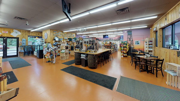 Matterport 3-D Interactive Virtual Tour of the North Country Market in Thendra NY.