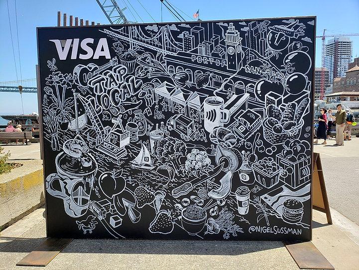 Visa Tap Local Live Mural