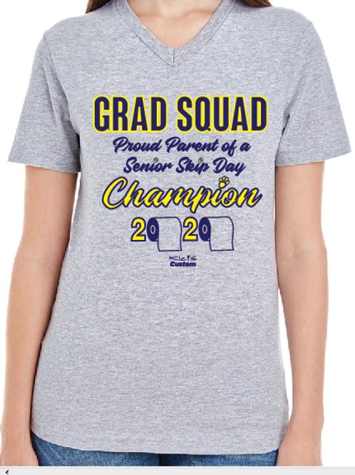 Grad Squad Ladies Vneck short sleeve shirt