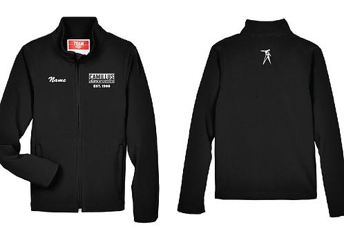 Black softshell jacket (embroidered)