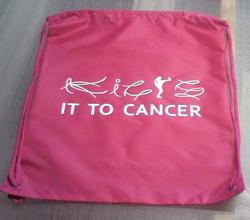 Kicks it to Cancer
