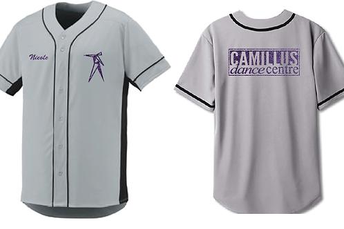 Grey Jersey w/ purple glitter prints