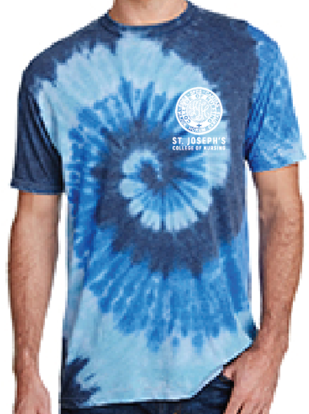 Sea Blue burnout tie dye short sleeve