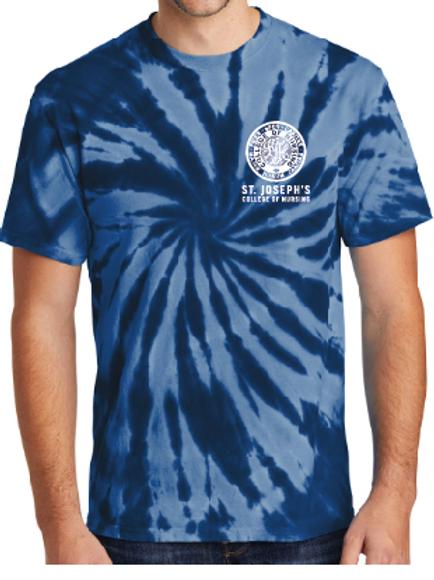 Navy tie dye short sleeve shirt