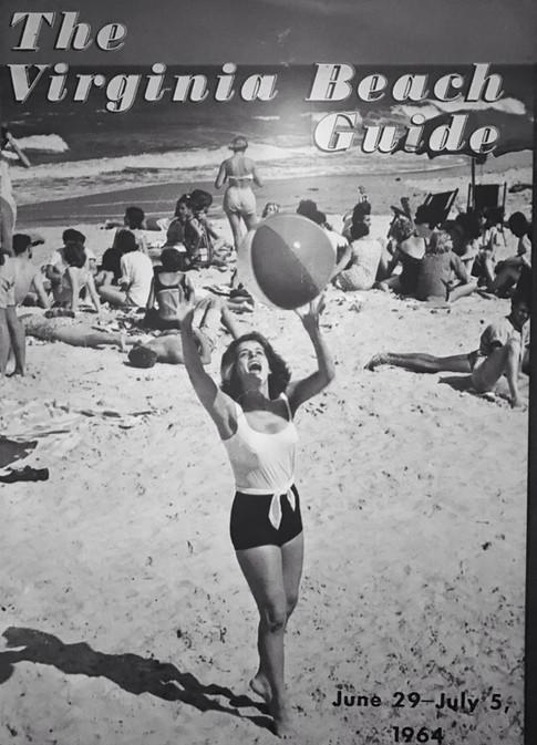 Helen Standing on Beach in 1960s