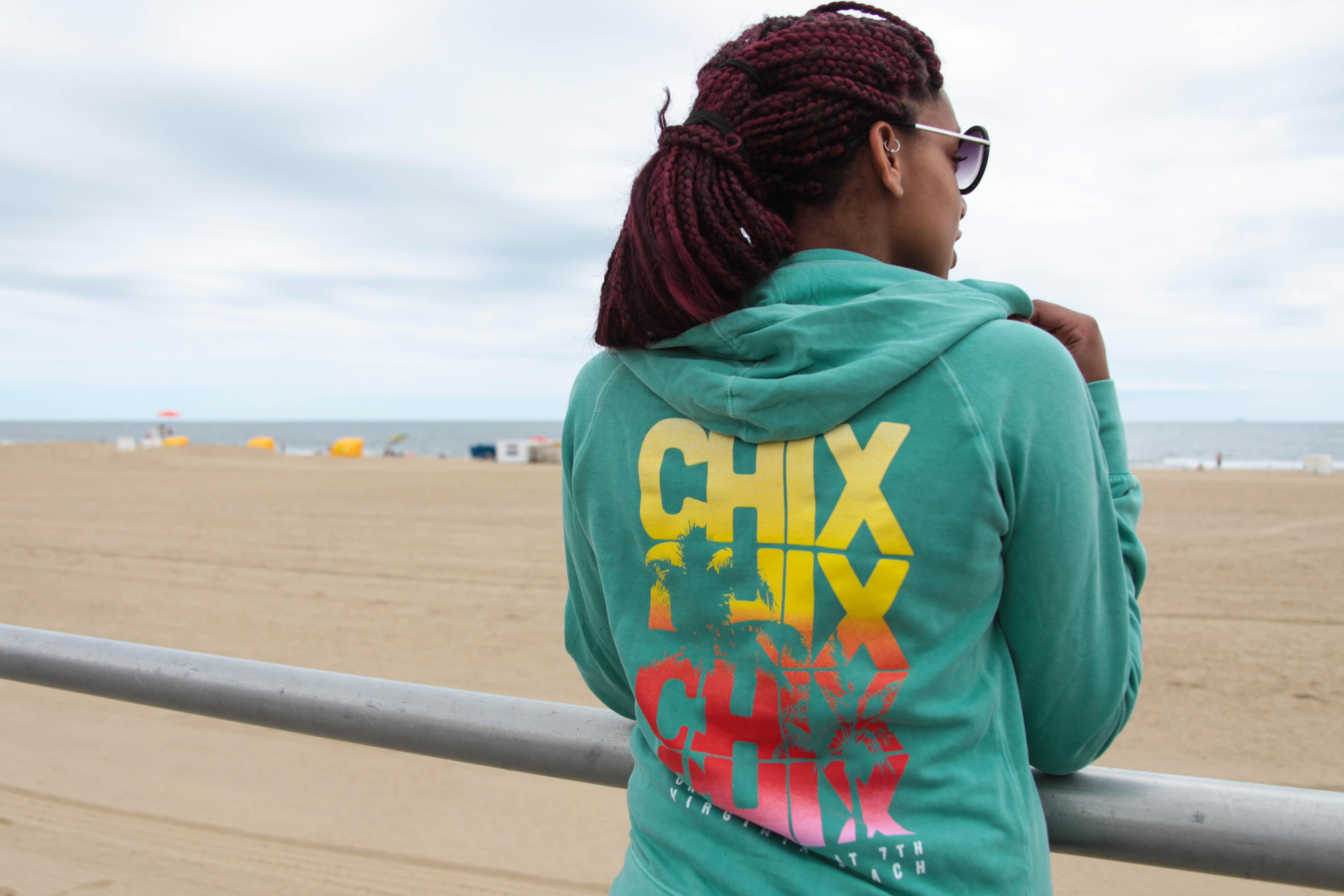Girl Wearing Chix Hoodie