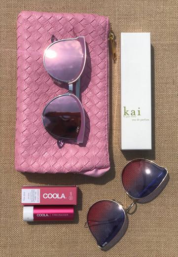 Purse and Sunglasses