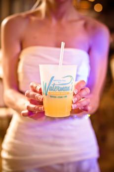 Bride Holding Orange Crush