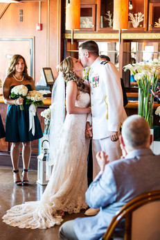 Couple Married in The Attic at Waterman's
