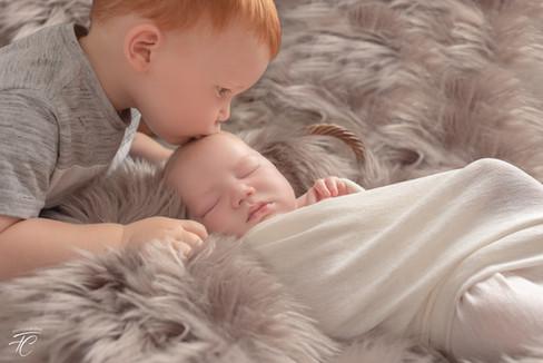Photographie nouveau né et son frère Langres