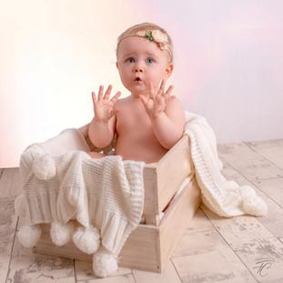 photographie de bébé anniversaire smash the cake Dijon Langres