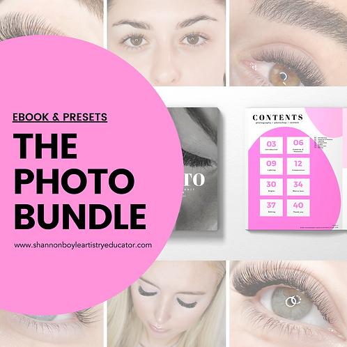 How to Photograph & Edit your work Ebook & The Eyelash Preset Bundle