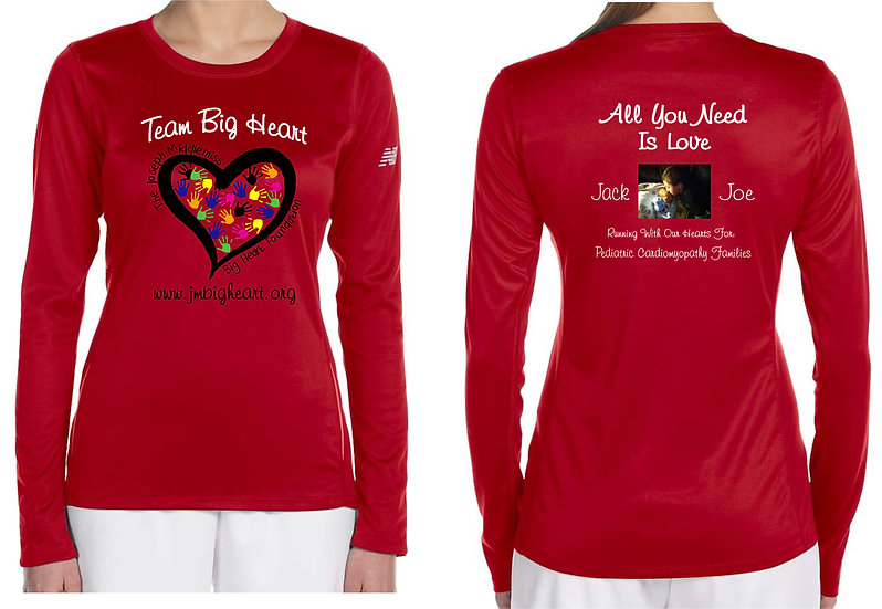 Team Big Heart  Unisex  LS Running Shirt