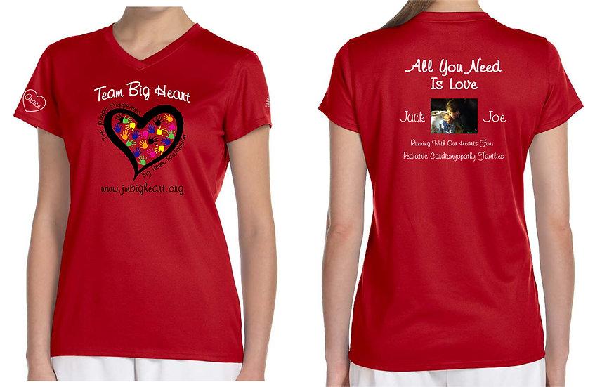 Team Big Heart Ladies SS Running Shirt