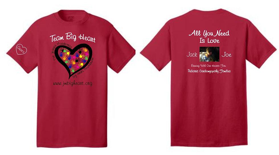Team Big Heart Men's SS Running Shirt