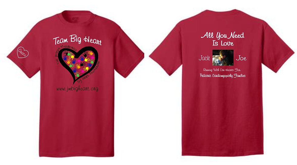 Team Big Heart Youth Short Sleeve Running Shirt