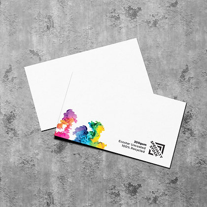 Premium 100% Recycled Business Cards ~ EcoStar 350gsm