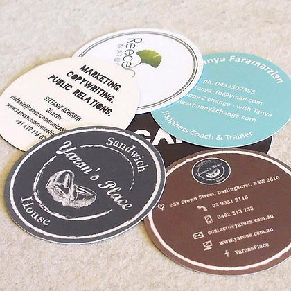 Upgrade: Round Business Cards ~ Circular Die-cut Cards