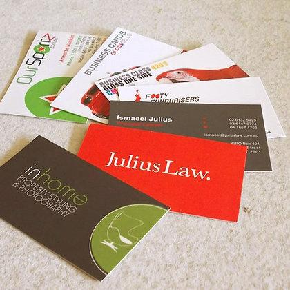 Business Cards ~ Premium 420gsm Artboard ~ Celloglaze Gloss/Matt