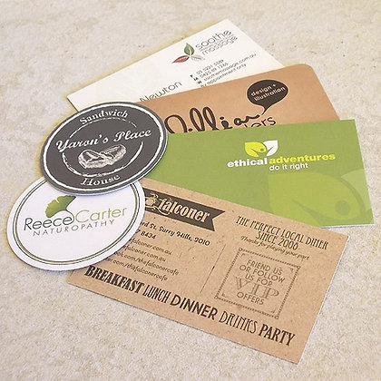 Uncoated Business Cards ~ Appointment Cards ~ Loyalty Cards ~ 305gsm