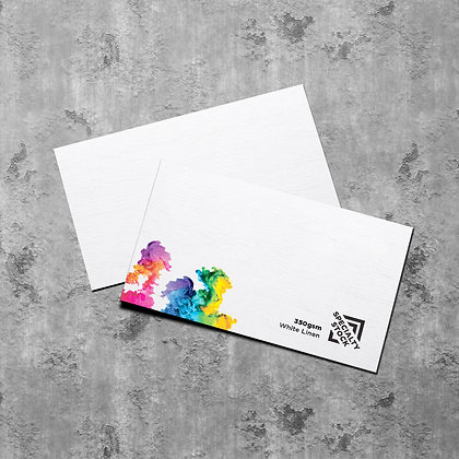White Linen Textured Business Cards 350gsm