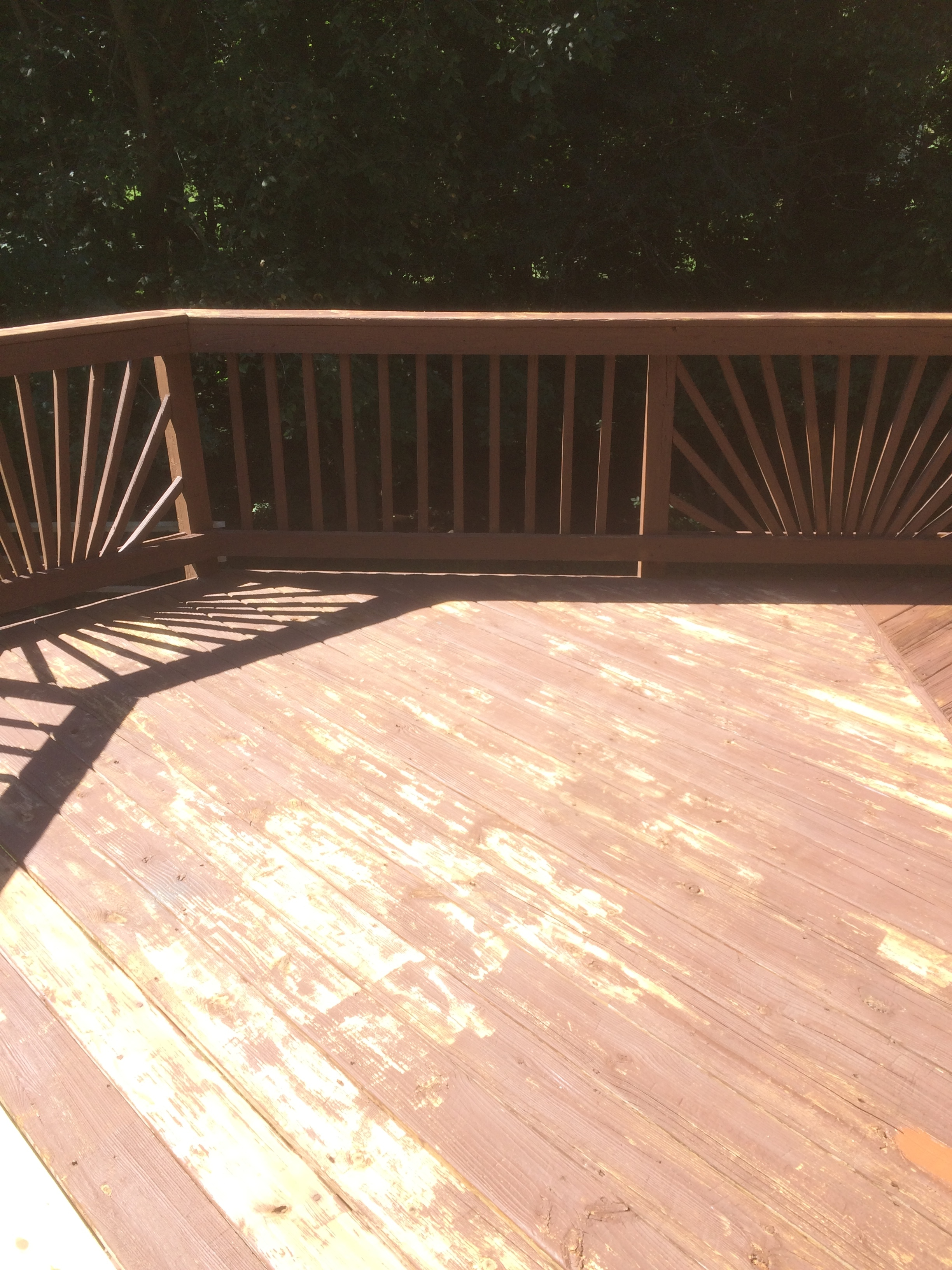 Deck resurfacing before