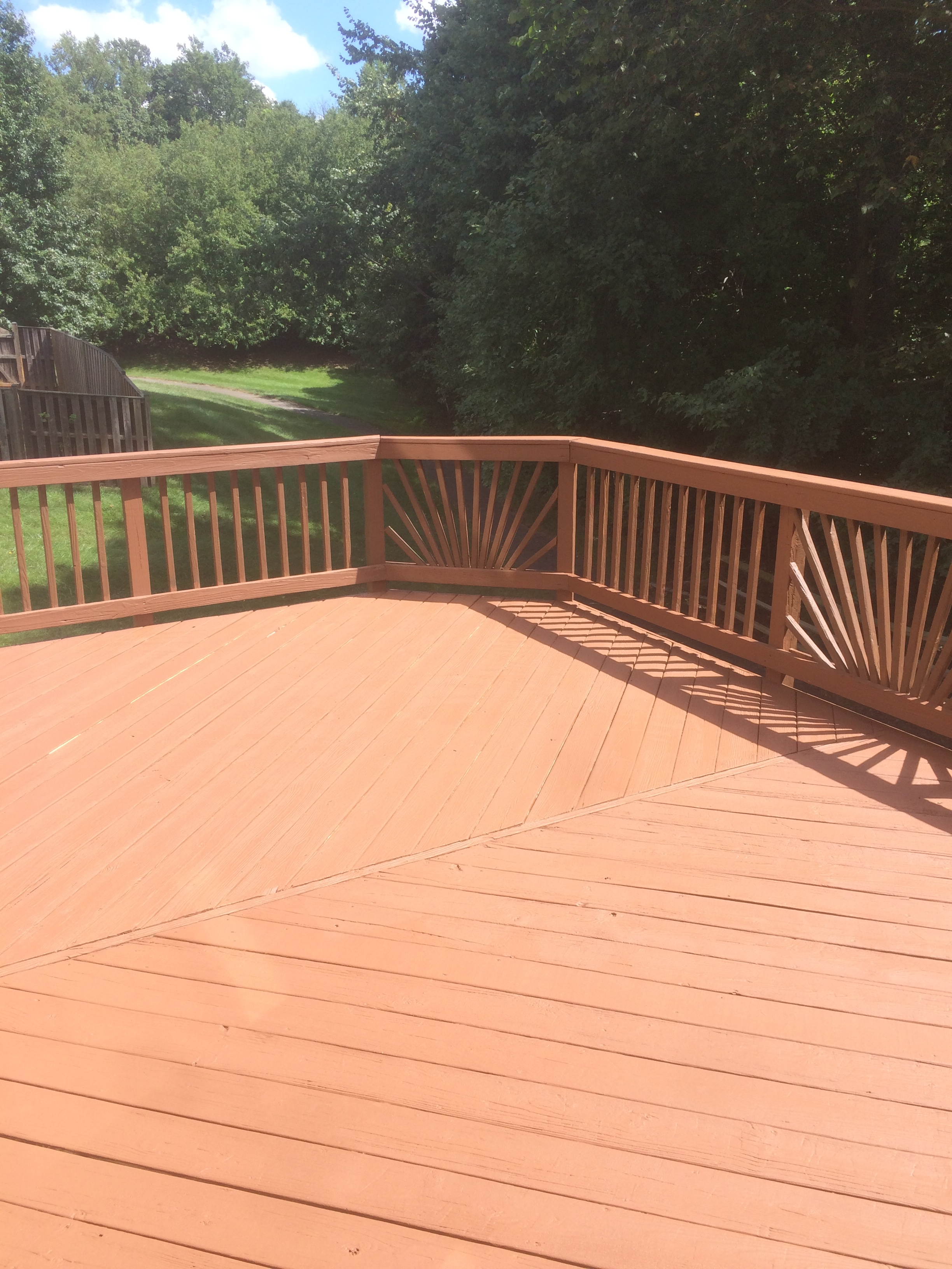 Deck resurfacing after