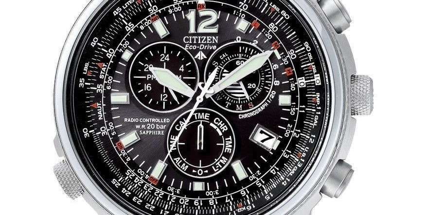 CITIZEN Orologio Uomo Crono Pilot Radiocontrollato AS4020-52E