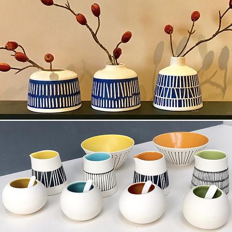 Tableware and vases montage (Karen Beard Ceramics)