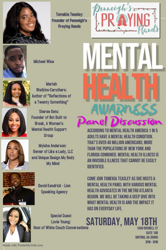 A mental health awareness panel that David Kendrick was a part of