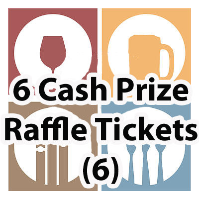6 for 5  50-50 Cash Prize Raffle Tickets