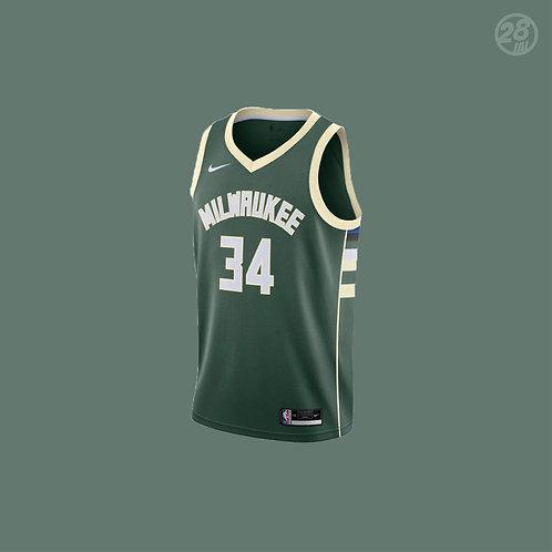 Bucks Giannis Antetokounmpo Nike 2020-21 Icon Edition Swingman Jersey