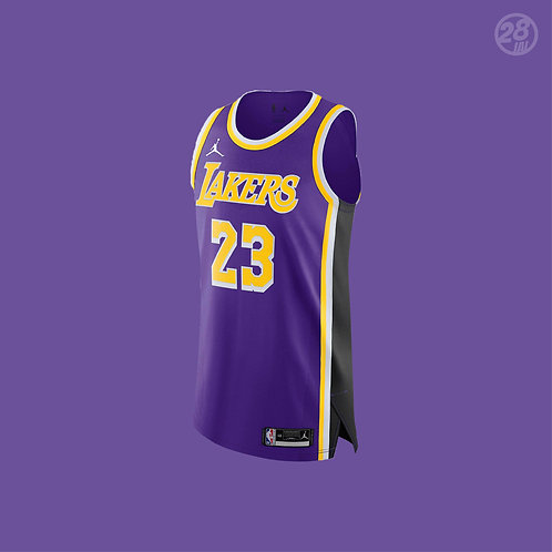 Lakers LeBron James Jordan 2020-21 Statement Edition  Authentic Jersey