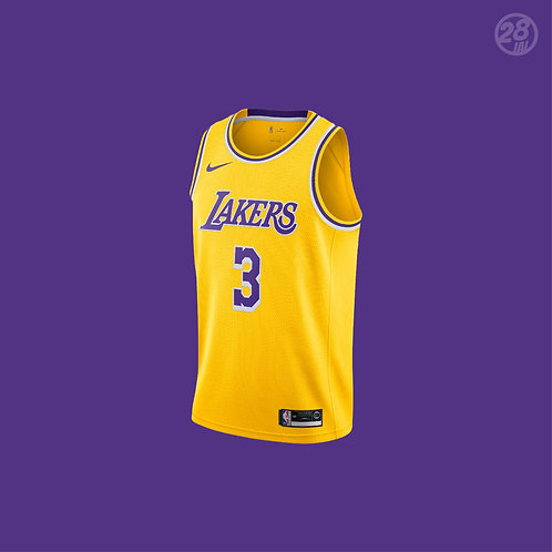 Lakers Anthony Davis Nike 2019-20 Icon Edition Swingman Jersey