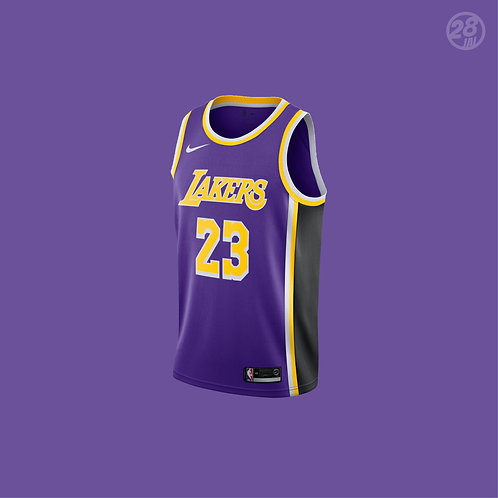 Lakers LeBron James Nike 2018-19 Statement Edition  Swingman Jersey