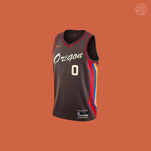 Trail Blazers Damian Lillard Nike 2020-21 City Edition Swingman Jersey
