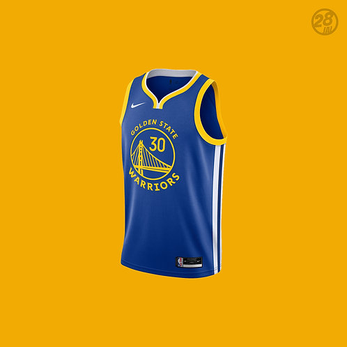 Warriors Stephen Curry Nike 2020-21 Icon Edition Swingman Jersey