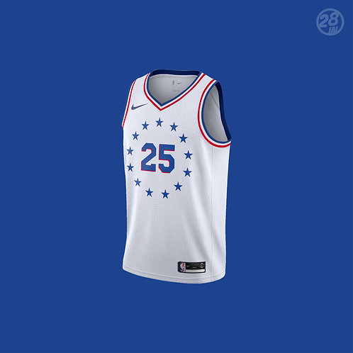 76ers Ben Simmons Nike 2019-20 Earned Edition Swingman Jersey