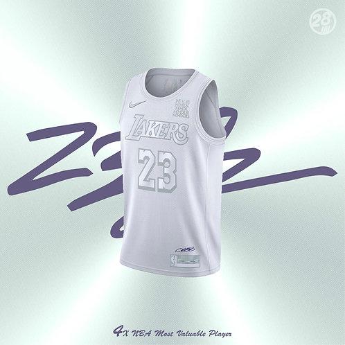 Lakers LeBron James Nike 2019-20 White MVP Swingman Jersey