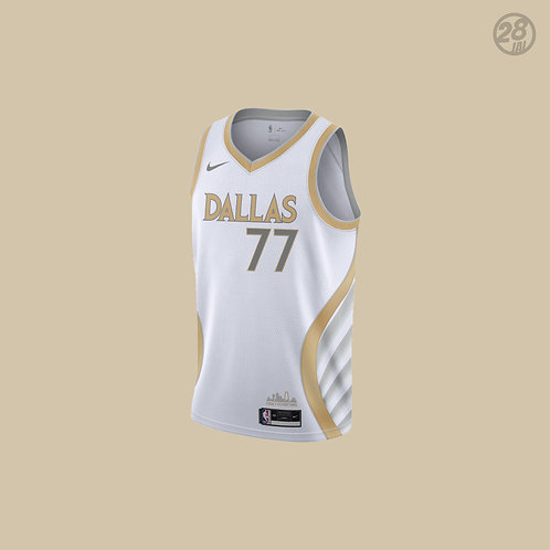 Mavericks Luka Doncic Nike 2020-21 City Edition  Swingman Jersey