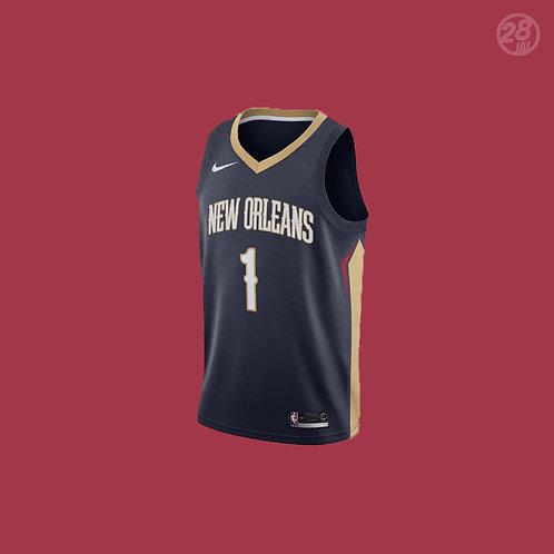 Pelicans Zion Williamson Nike 2019-20 Icon Edition Swingman Jersey