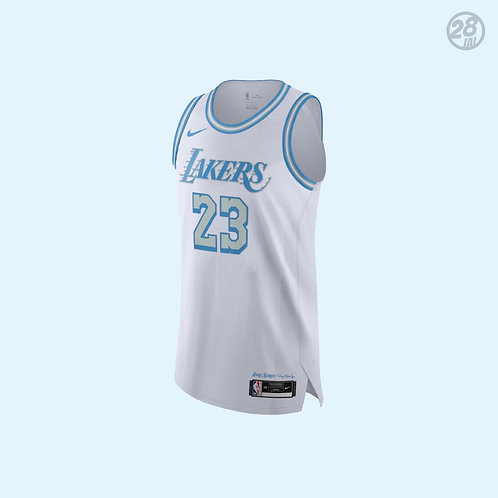 Lakers LeBron James Nike 2020-21 City Edition  Authentic Jersey