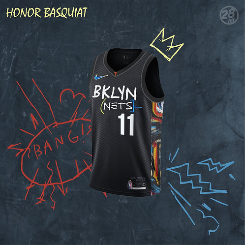 Nets Kyrie Irving Nike 2020-21 City Edition  Swingman Jersey