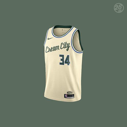 Bucks Giannis Antetokounmpo Nike 2019-20 City Edition Swingman Jersey