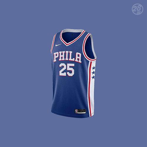 76ers Ben Simmons Nike 2020-21 Icon Edition Swingman Jersey