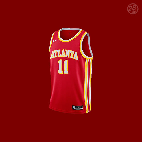 Hawks Trae Young Nike 2020-21 Icon Edition Swingman Jersey