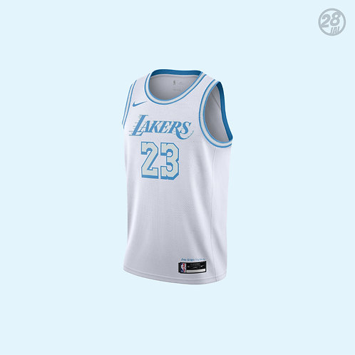 Lakers LeBron James Nike 2020-21 City Edition Swingman Jersey