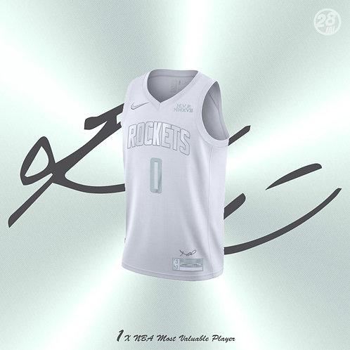 Rockets Russell Westbrook Nike 2019-20 White MVP Swingman Jersey