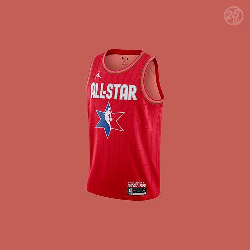 Lakers LeBron James Jordan 2019-20 All-Star Red Swingman Jersey