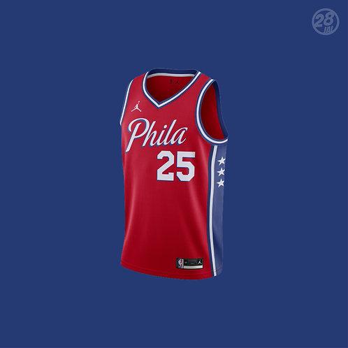 76ers Ben Simmons Jordan 2020-21 Statement Edition Swingman Jersey